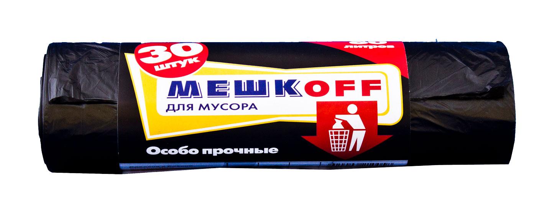 Пакет мусорный 30лит 30шт (Мешкоff) ПНД 8мкм (60уп)